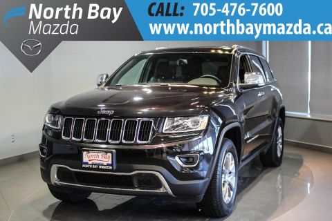 Pre-Owned 2016 Jeep Grand Cherokee Limited Leather Interior + Sunroof + Heated Seats 1st + 2nd Row 4WD