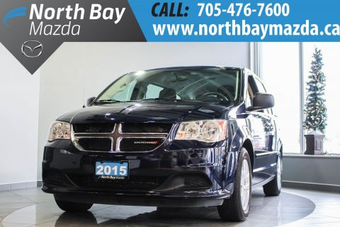 Certified Pre-Owned 2015 Dodge Caravan ONLY 149 BIWEEKLY + 7 Passenger + Cloth Interior + 3.6 L V6 Engine FWD Mini-van, Passenger