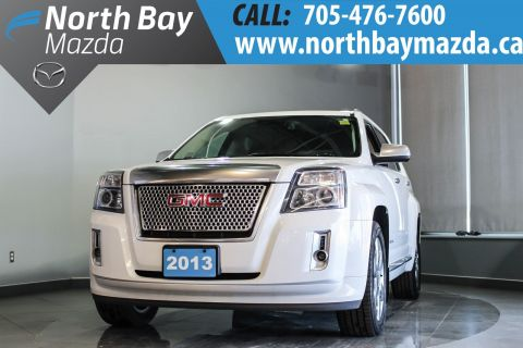 Certified Pre-Owned 2013 GMC Terrain Denali with Leather, Sunroof, Bluetooth, Heated Seats AWD