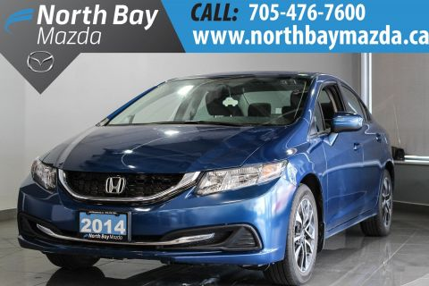 Pre-Owned 2014 Honda Civic EX with Bluetooth, Backup Camera, Low Mileage! FWD 4dr Car