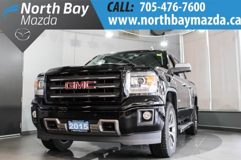 Pre-Owned 2015 GMC Sierra SLT with Crew Cab, 4X4, Tonneau Cover, Side Steps 4WD