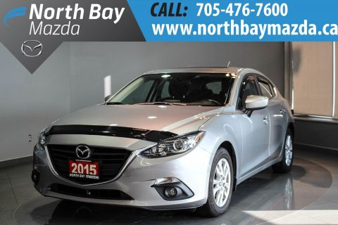 Certified Pre-Owned 2015 Mazda3 Sport GS Back-Up Camera + Heated Front Seats + Sunroof FWD Hatchback
