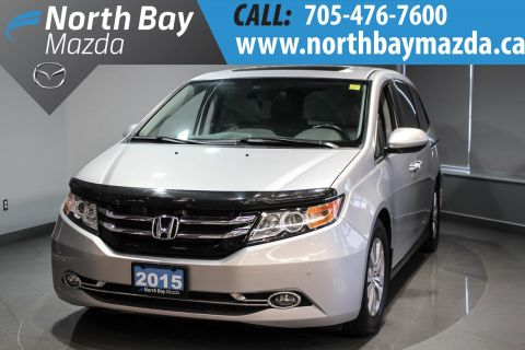 Certified Pre-Owned 2015 Honda Odyssey EX-L NAVI Leather Interior + Navigation + Power Tailgate FWD Mini-van, Passenger
