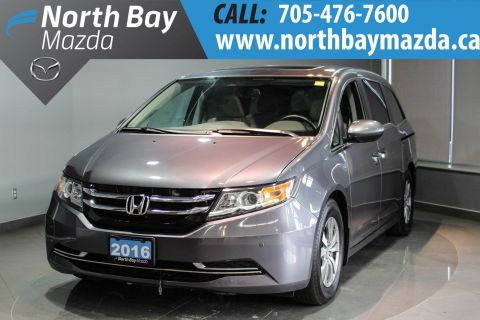 Certified Pre-Owned 2016 Honda Odyssey EX-L Leather Interior + Blind Spot Camera + Rear Entertainment System FWD Mini-van, Passenger