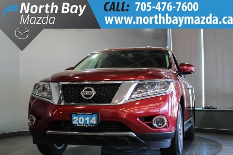 Certified Pre-Owned 2014 Nissan Pathfinder Platinum 7 Passenger with Bluetooth, Nav, Leather 4WD
