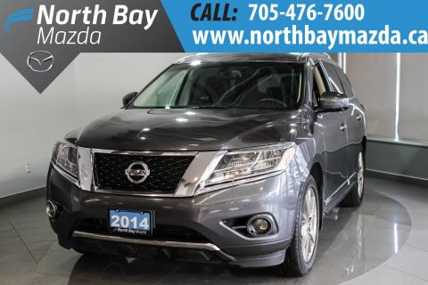 Certified Pre-Owned 2014 Nissan Pathfinder Platinum Leather Interior + Heated Steering Wheel + Power Tailgate 4WD