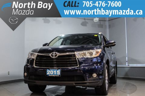 Pre-Owned 2015 Toyota Highlander XLE with AWD, Heated Seats, Bluetooth, Leather