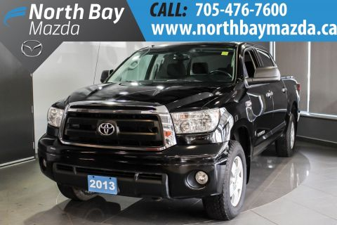 Pre-Owned 2013 Toyota Tundra SR5 5.7L V8 Crew Cab  4X4 + Tanneau Cover + Bluetooth 4WD