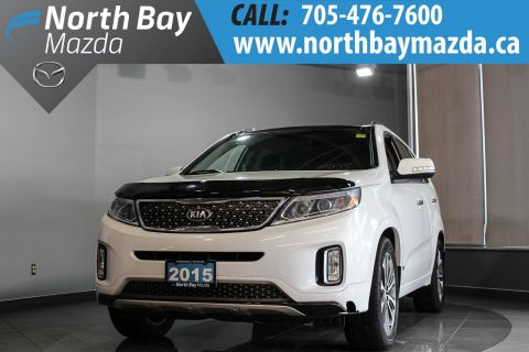 Pre-Owned 2015 Kia Sorento SX AWD with Leather, Panoramic Sunroof! AWD