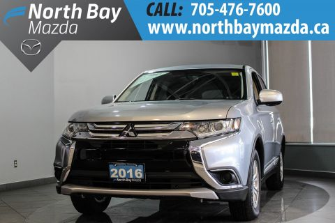 Pre-Owned 2016 Mitsubishi Outlander ES AWD with Winter Tires, Bluetooth, Heated Seats 4WD