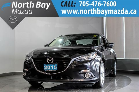 Pre-Owned 2015 Mazda3 GT Lease Return with Nav, Sunroof, Dual Zone Climate Control FWD 4dr Car