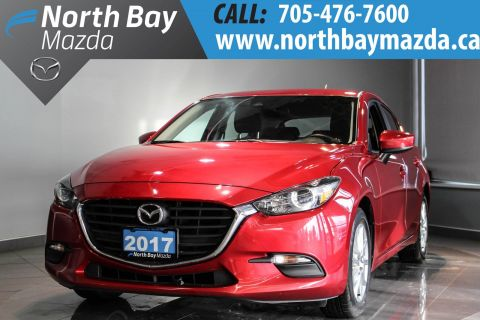 Certified Pre-Owned 2017 Mazda3 Sport GS with Heated Steering Wheel + Traction Control + Bluetooth FWD Hatchback