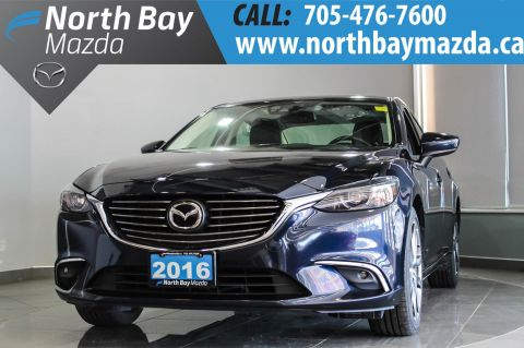 Pre-Owned 2016 Mazda6 GT with Blutooth, Leather, Sunroof, Heated Seats With Navigation