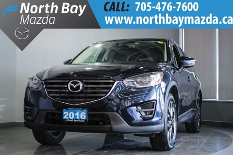 Certified Pre-Owned 2016 Mazda CX-5 GT with Leather, Nav, Bluetooth, AWD With Navigation & AWD