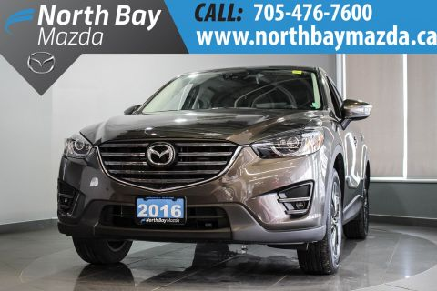 Pre-Owned 2016 Mazda CX-5 GT AWD - LEATHER INTERIOR - NEW NON-CURRENT GT With Navigation & AWD