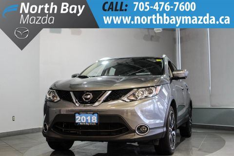Pre-Owned 2018 Nissan Qashqai AWD with Heated Seats, Leather, Sunroof