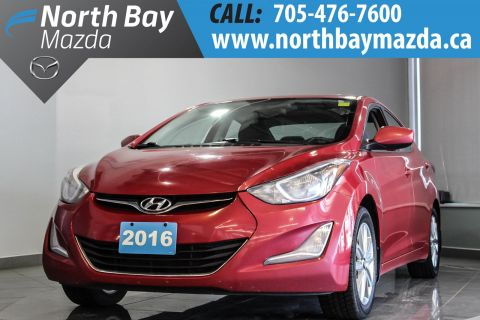 Pre-Owned 2016 Hyundai Elantra GLS with Sunroof, $55 Weekly OAC!