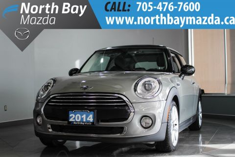 Certified Pre-Owned 2014 MINI Cooper Turbo with Bluetooth, Leather Trim, Pano Roof FWD Hatchback