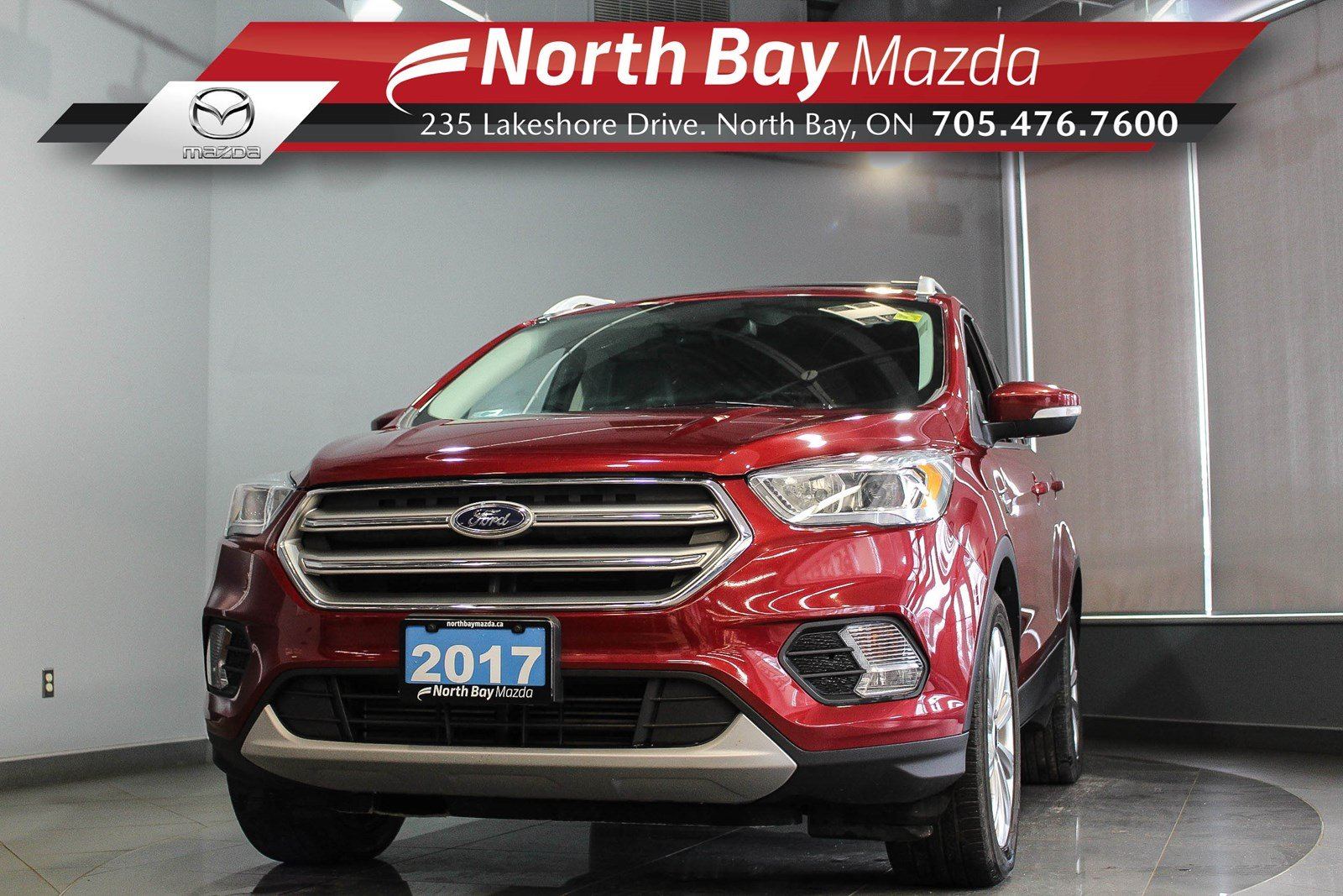 Pre-Owned 2017 Ford Escape Titanium FWD with Leather, Heated Seats, Clean CarProof!