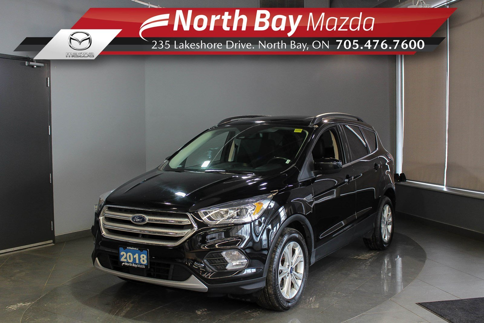 Pre-Owned 2018 Ford Escape SEL AWD with Pano Sunroof, Leather, Heated Seats