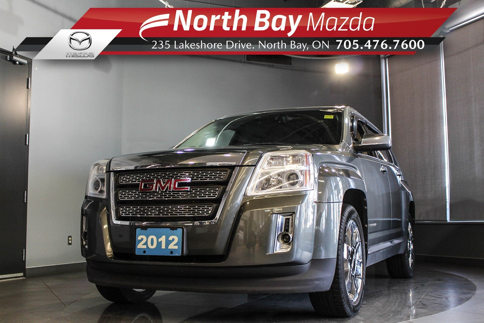 Pre-Owned 2012 GMC Terrain SLT-2 AWD with Leather, Sunroof, Heated Seats