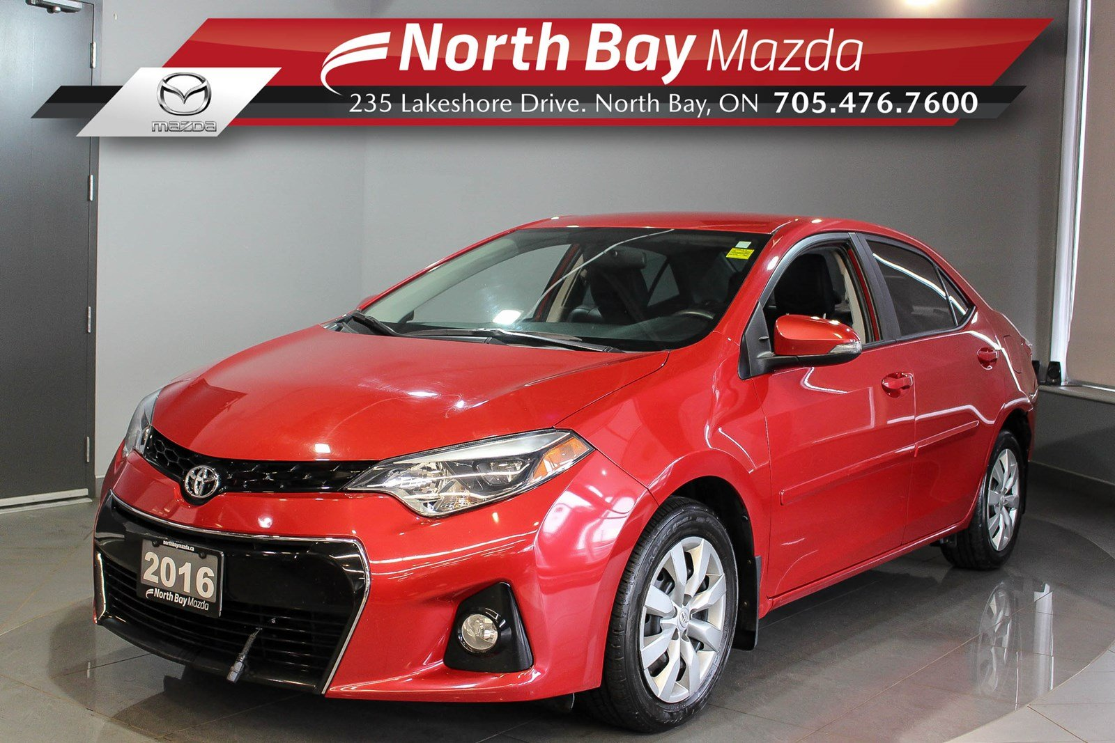 Pre-Owned 2016 Toyota Corolla S with Heated Seats, Bluetooth, Cruise