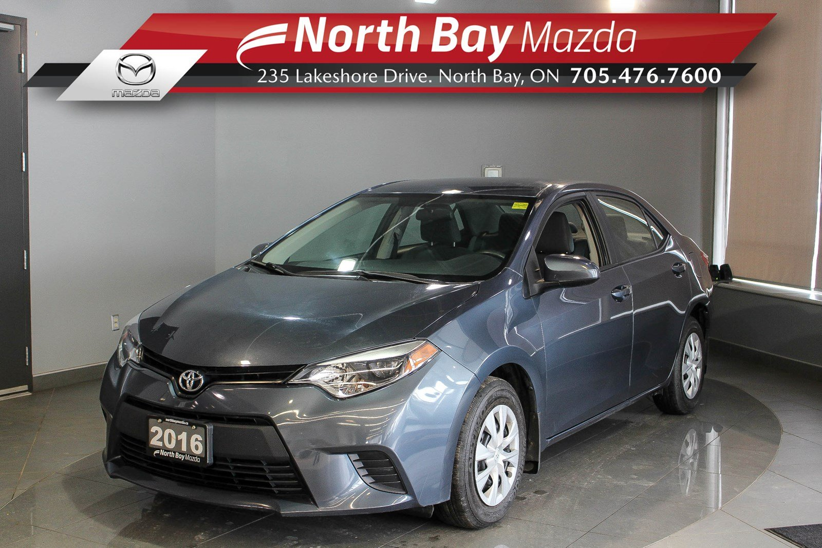 Pre-Owned 2016 Toyota Corolla CE with Bluetooth, Cruise, Cloth Interior