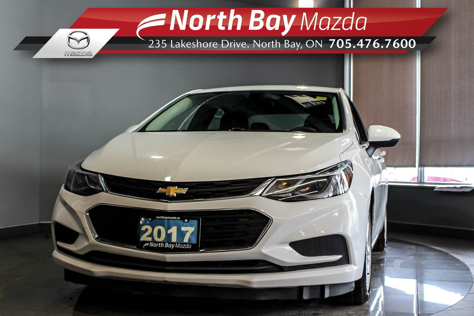 Pre-Owned 2017 Chevrolet Cruze LT Turbo with Bluetooth, Cruise, Heated Seats