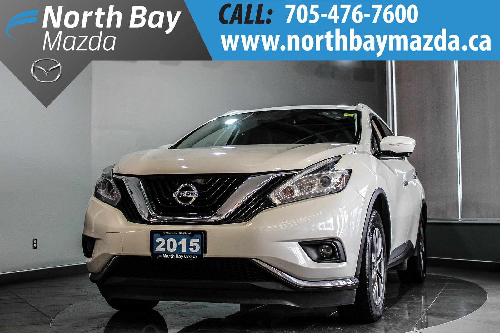Pre-Owned 2015 Nissan Murano SL AWD with Leather and Panoramic Sunroof
