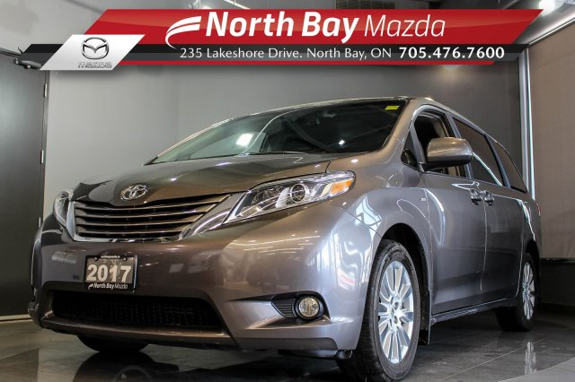 Pre-Owned 2017 Toyota Sienna XLE AWD with Sunroof, Power Liftgate, Blind Spot Monitoring