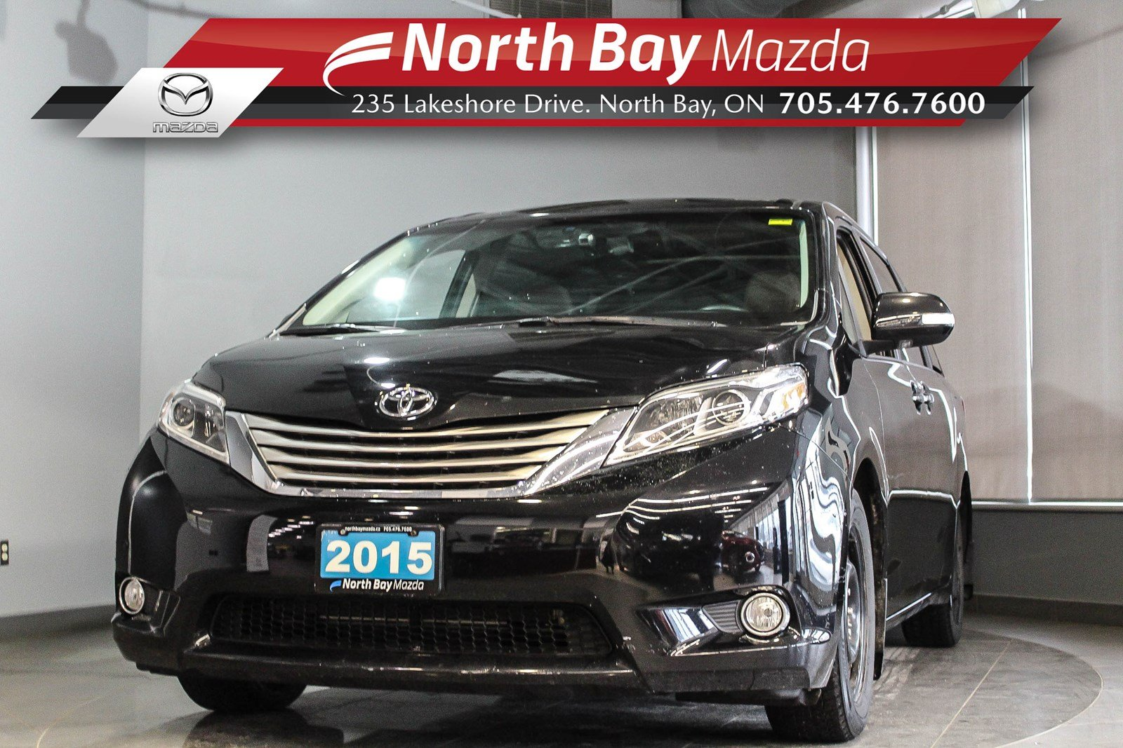 Pre-Owned 2015 Toyota Sienna Limited FWD with Leather, DVD, Heated Steering Wheel