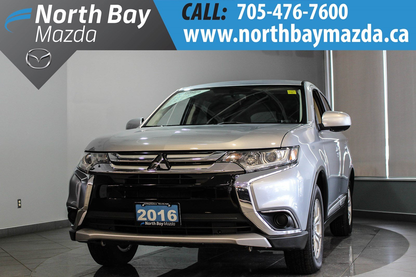 Pre-Owned 2016 Mitsubishi Outlander ES AWD with Winter Tires, Bluetooth, Heated Seats