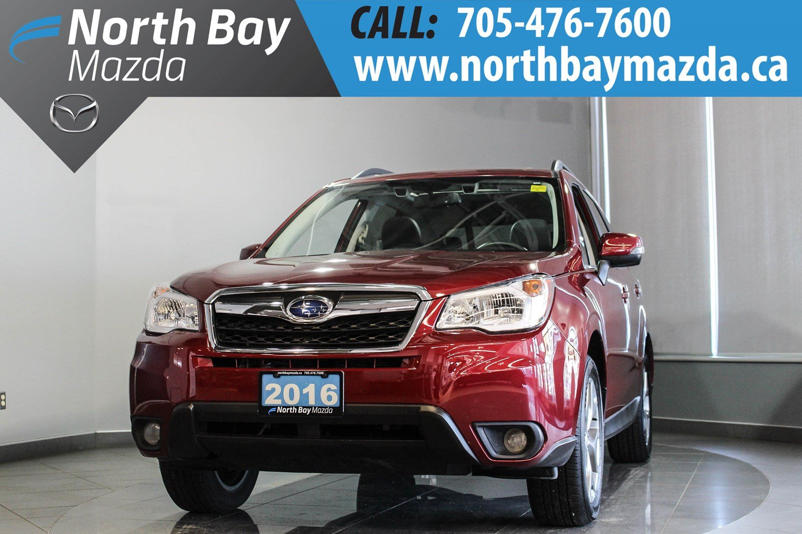 Pre-Owned 2016 Subaru Forester Limited Eyesight with Leather, Nav, Sunroof