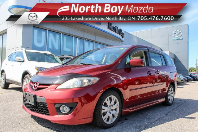 Pre-Owned 2009 Mazda 5 GS Self Certify with Ivory Cloth, Sunroof, A/C