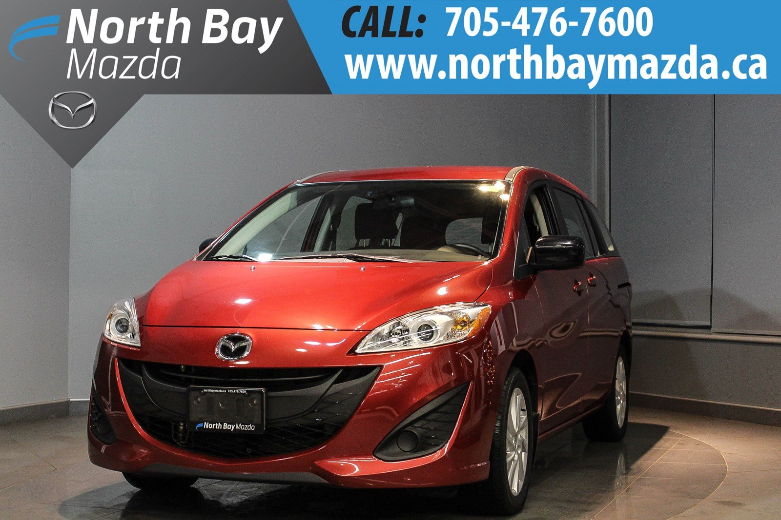 Pre-Owned 2017 Mazda5 GS Auto with Bluetooth, Cruise Control