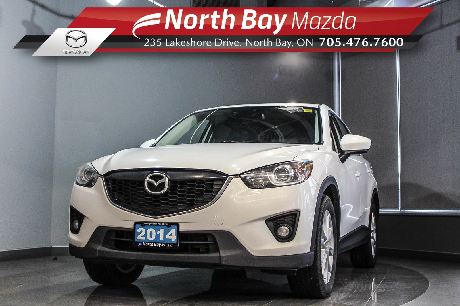 Pre-Owned 2014 Mazda CX-5 GT AWD with Leather, Sunroof, Bluetooth, Cruise