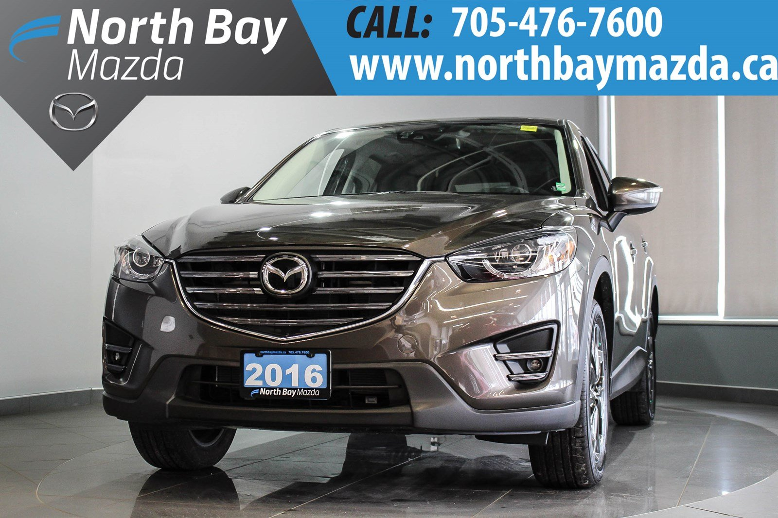 Pre-Owned 2016 Mazda CX-5 GT AWD - LEATHER INTERIOR - NEW NON-CURRENT GT