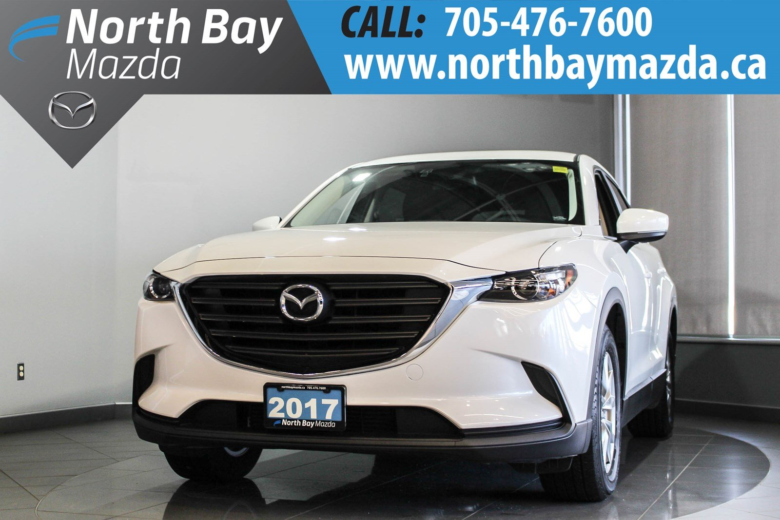 Pre-Owned 2017 Mazda CX-9 GS Lease Return with Heated Seats, Tri-Zone Climate Control