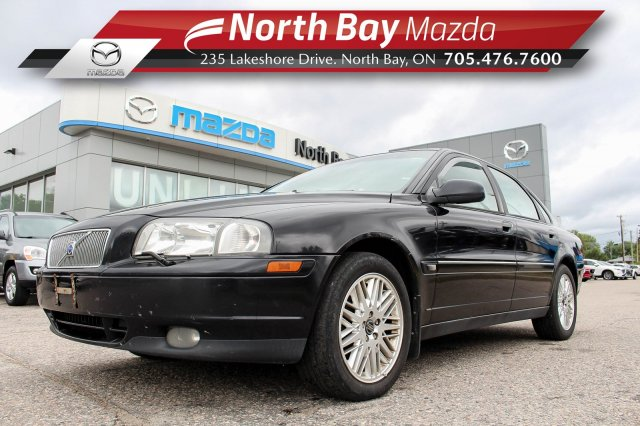 Pre-Owned 2002 Volvo S80 Self Certify with Leather, Sunroof, Heated Seats, Dual TV Headrest