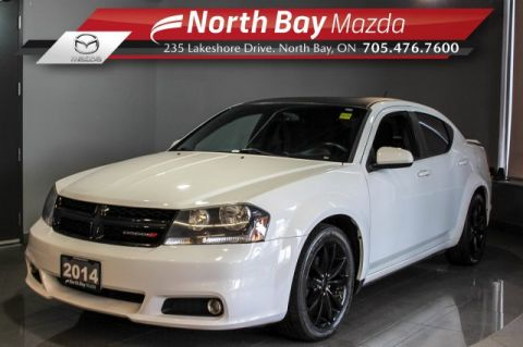 Pre-Owned 2014 Dodge Avenger SXT with Heated Seats, Sunroof, Bluetooth