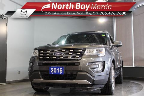 Pre-Owned 2016 Ford Explorer Limited AWD 7 Pass with Leather, Heated/Cooled Seats