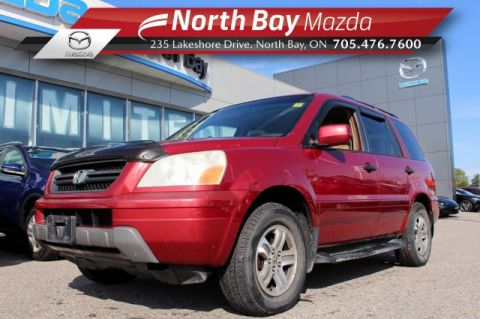 Pre-Owned 2005 Honda Pilot EX-L 4WD Self Certify with Drop TV, Sunroof, 3rd Row Seating