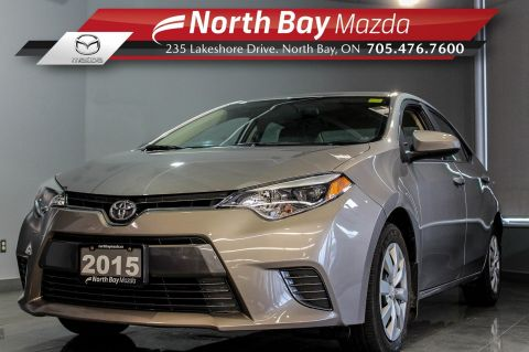 Pre-Owned 2015 Toyota Corolla CE with Ivory Interior, Bluetooth, Heated Seats