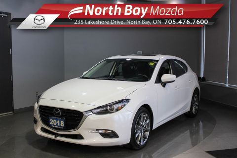 Pre-Owned 2018 Mazda 3 GT with Sunroof, Leather, Heated Seats/Steering Wheel FWD Hatchback