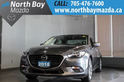 Pre-Owned 2018 Mazda3 GT with Leather, Nav, Sunroof, One Owner FWD 4dr Car