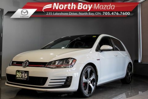 Pre-Owned 2015 Volkswagen Golf GTI Autobahn with Leather, Sunroof, Heated Seats!