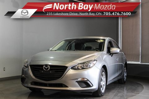 Pre-Owned 2015 Mazda3 GX FWD Manual with Bluetooth, New Brake Pads & Rotors!