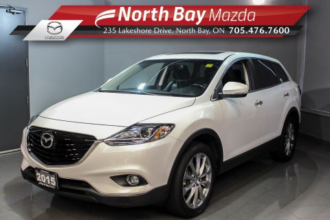 Pre-Owned 2015 Mazda Cx9 GT AWD with Leather, Bose Speakers, Sunroof, Nav