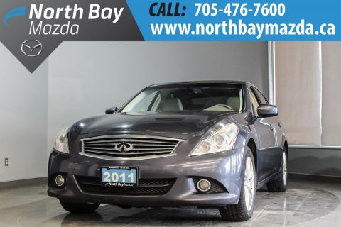 Pre-Owned 2011 INFINITI G25 Luxury with Leather, Sunroof, Heated Seats